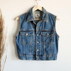 Vintage Calvin Klein Jeans Denim Trucker Vest